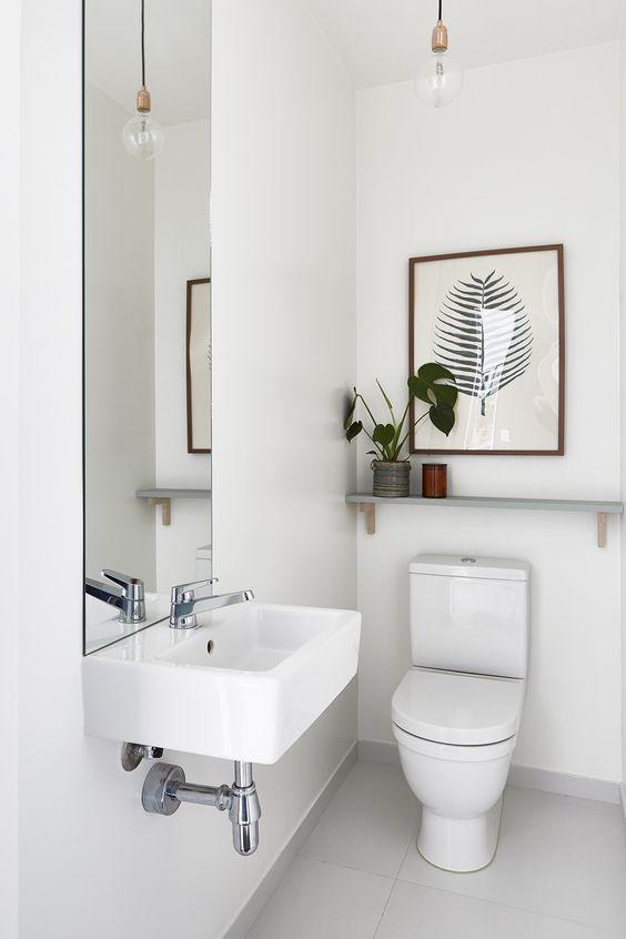Olvídate de los gabinetes en tu baño con estos modernos lavabos