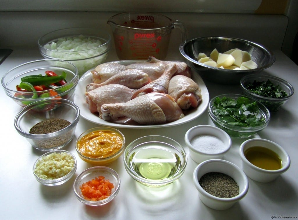 Organizar ingredientes antes de cocinar