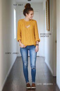 Outfits con sueters para otoño 2017