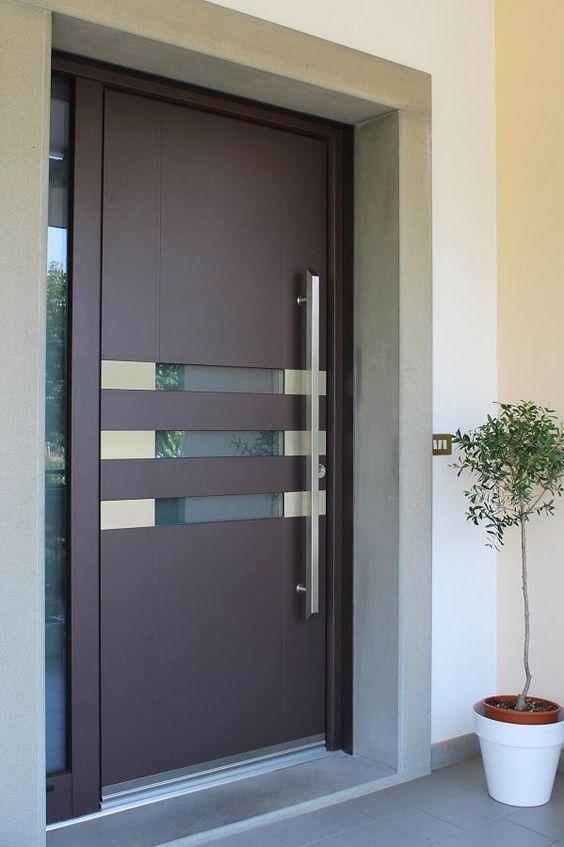 Puertas para el frente de tu casa for Puertas de madera interiores minimalistas
