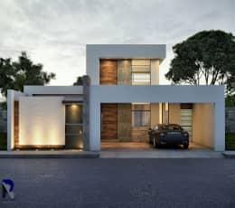 Renders y fotos de fachadas modernas curso de for Casas modernas renders