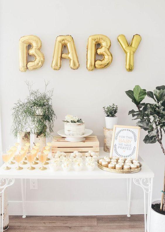 Temas para baby showers modernos