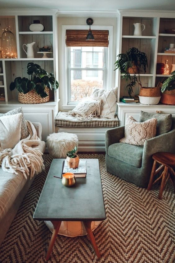 Textiles para que una sala pequeña se vea elegante