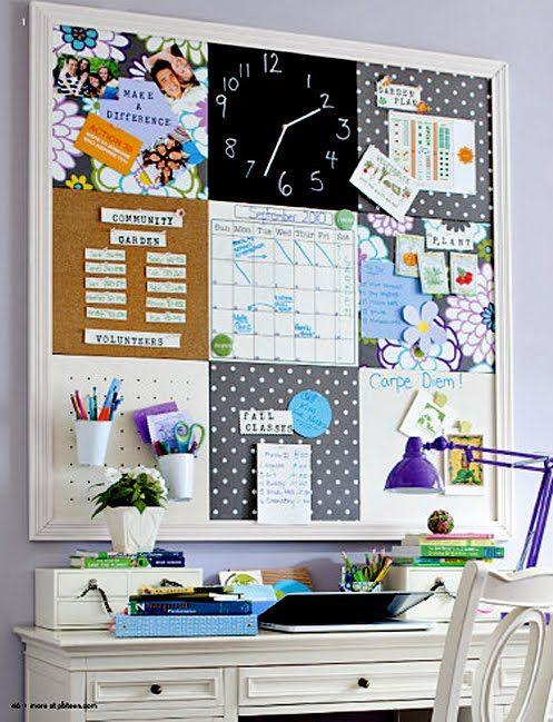 Ideas creativas para decorar tu oficina en casa curso de for Tableros para escritorios