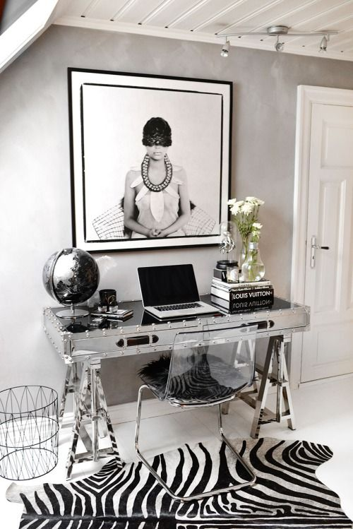 Decoración de oficinas pequeñas modernas en casa