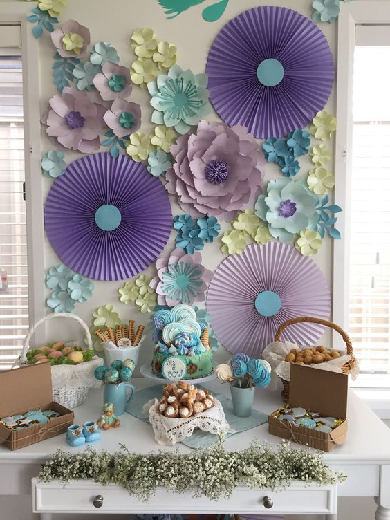 Ideas para decorar con flores de papel