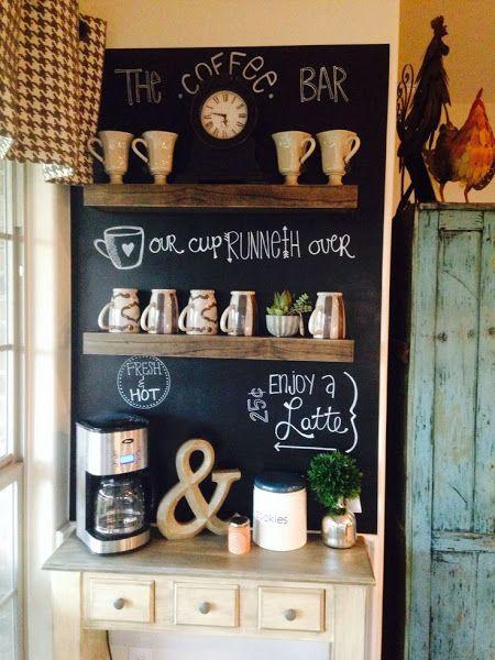 cafetería en casa para organizar tazas