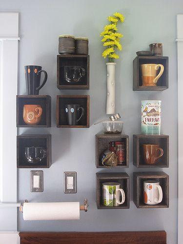 ideas para organizar tazas y decorar cocinas