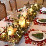 Centros de mesa navideños 2017-2018 con velas y estrellas