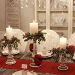 Centros de mesa navideños 2017-2018 con velas