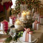 Centros de mesa navideños 2017-2018 con velas y regalos