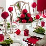 Centros de mesa navideños 2017-2018 con esferas rojas