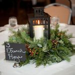 Centros de mesa navideños 2017-2018 corona con vela