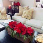 Centros de mesa navideños 2017-2018 con flores de noche buena