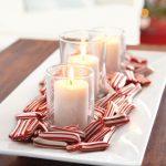 Centros de mesa navideños 2017-2018 con velas y dulces