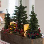 Centros de mesa navideños 2017-2018 con mini pinos