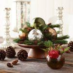 Centros de mesa navideños 2017-2018 con esferas