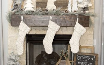 Decoración navideña 2017 en color blanco