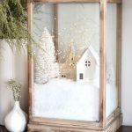 Decoración navideña 2017 en color blanco adorno con nieve