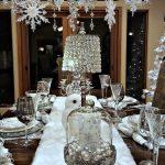 Decoración navideña 2017 en color blanco mesa