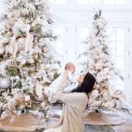 Decoración navideña 2017 en color blanco arbol