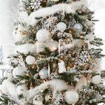 Decoración navideña 2017 en color blanco pino perfecto