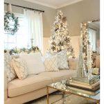 Decoración navideña 2017 en color blanco con beige