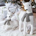Decoración navideña 2017 en color blanco venados