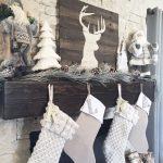 Decoración navideña 2017 en color blanco chimenea