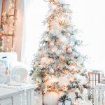 Decoración navideña 2017 en color blanco pino