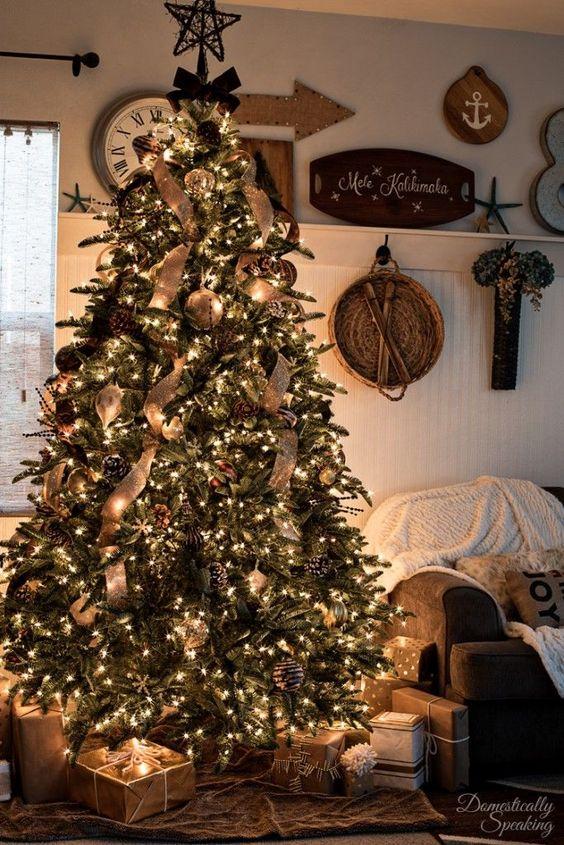 Decoración para navidad 2018 con yute