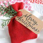 Decoraciones navideñas para tu hogar en color rojo mini regalo