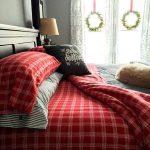 Decoraciones navideñas para tu hogar en color rojo con cuadros sabanas