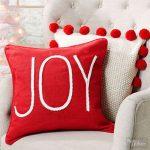 Decoraciones navideñas para tu hogar en color rojo cojines