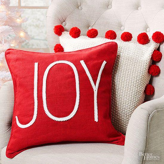 Decoraciones navide as para tu hogar en color rojo cojines for Decoraciones para tu hogar