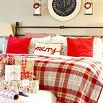 Decoraciones navideñas para tu hogar en color rojo habitacion