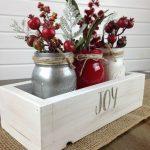 Decoraciones navideñas para tu hogar en color rojo centro de mesa vintage
