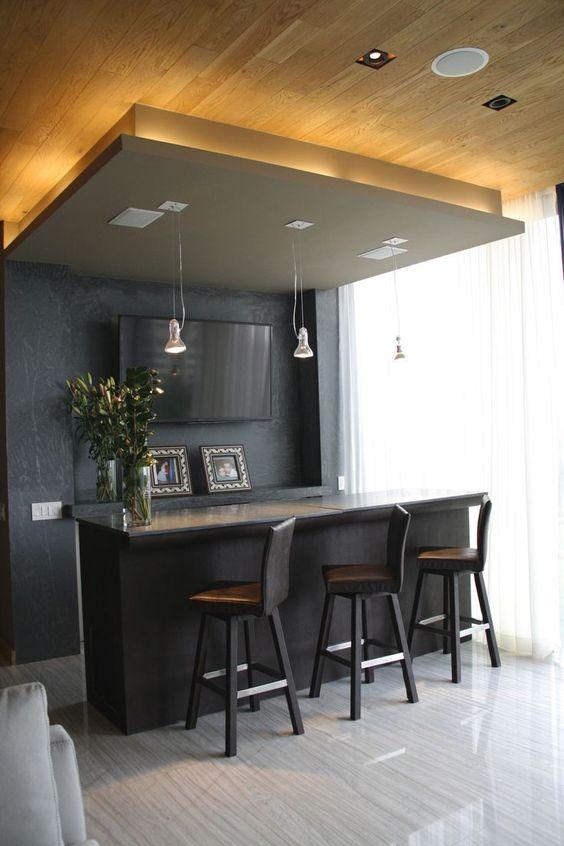 Dise o de bares en casa estilos de bares que te van for Bares modernos para casas
