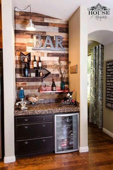 diseño de bares rusticos en casa