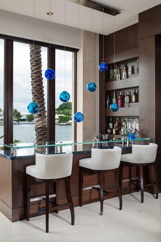 diseño de bares en casa modernos