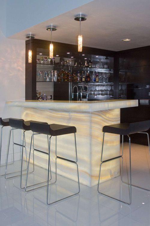 bar en casa minimalista