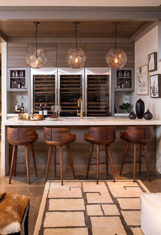 Bar en casa minimalista curso de organizacion del hogar for Casa minimalista 2017