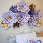Flores de papel para decoración de habitaciones de niña