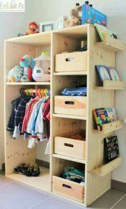 Lindas y prácticas ideas para organizar la ropa de tus hijos