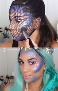 Maquillaje estilo mermaid ideal para Halloween 2017