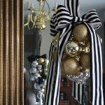 Navidad 2017 tendencias en decoración centro de mesa con esferas y moño