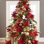 Navidad 2017 tendencias en decoración pino verde con noche buenas rojas