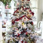 Navidad 2017 tendencias en decoración de pino con tiras con cuadros
