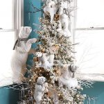 Navidad 2017 tendencias en decoración de arbol blanco con osos polares