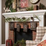 Navidad 2017 tendencias en decoración chimenea clasica